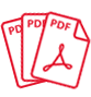 image of PDF documents vector