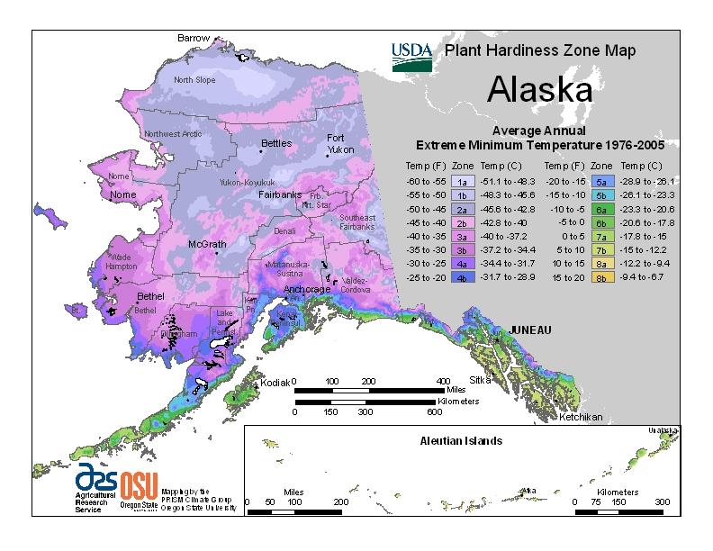 Hardiness ak Map Image