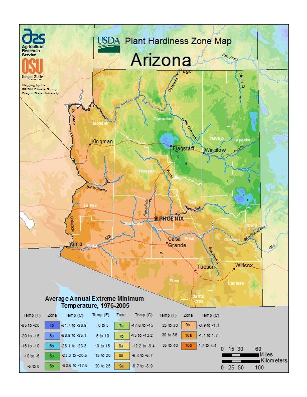 Hardiness az Map Image