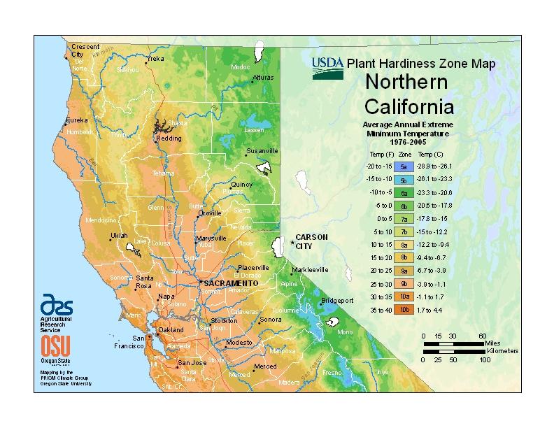 Hardiness California North Map Image
