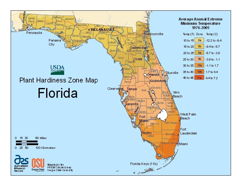 Hardiness fl Map Image