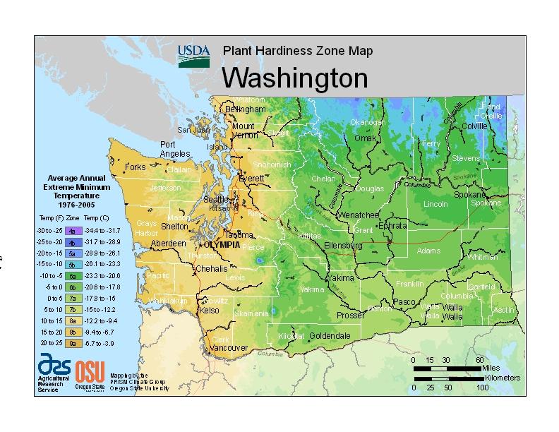 Hardiness wa Map Image