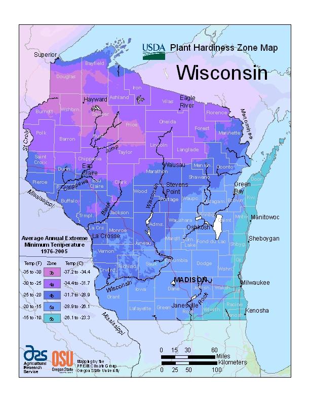 Hardiness wi Map Image