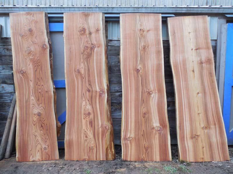 western-red-ceder-milled-into-slabs